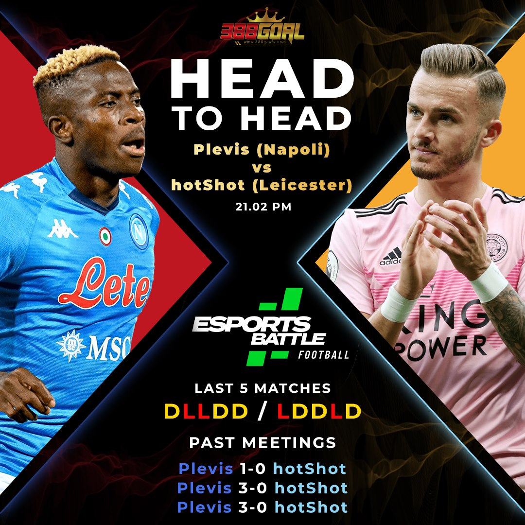 H2H Battle : เกมที่น่าสนใจอีกคู่ของศึก Esport Battle Football ในวันนี้ อยู่ในทัวร์นาเมนต์ยูโรปา ลีก เวลา 21.02 น.