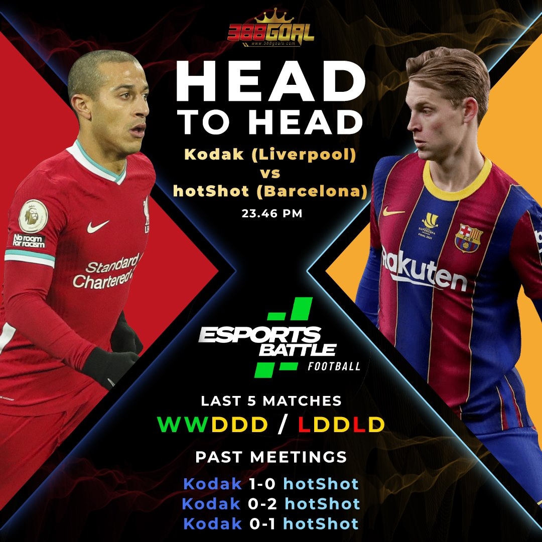H2H Battle : ปิดท้ายคู่เด็ดของศึก Esport Battle Football อยู่ในศึกแชมเปี้ยนส์ลีก คู่เวลา 23.46 น.