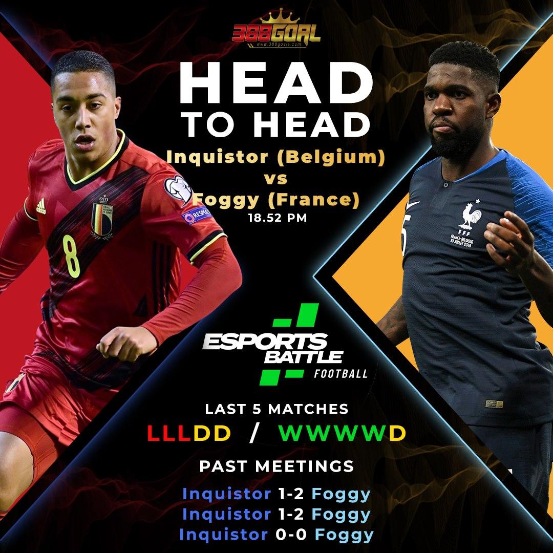 H2H Battle : ศึก Esport Battle Football ประจำวันนี้ ขอเริ่มด้วยเกมทีมชาติ คู่เวลา 18.52 น.