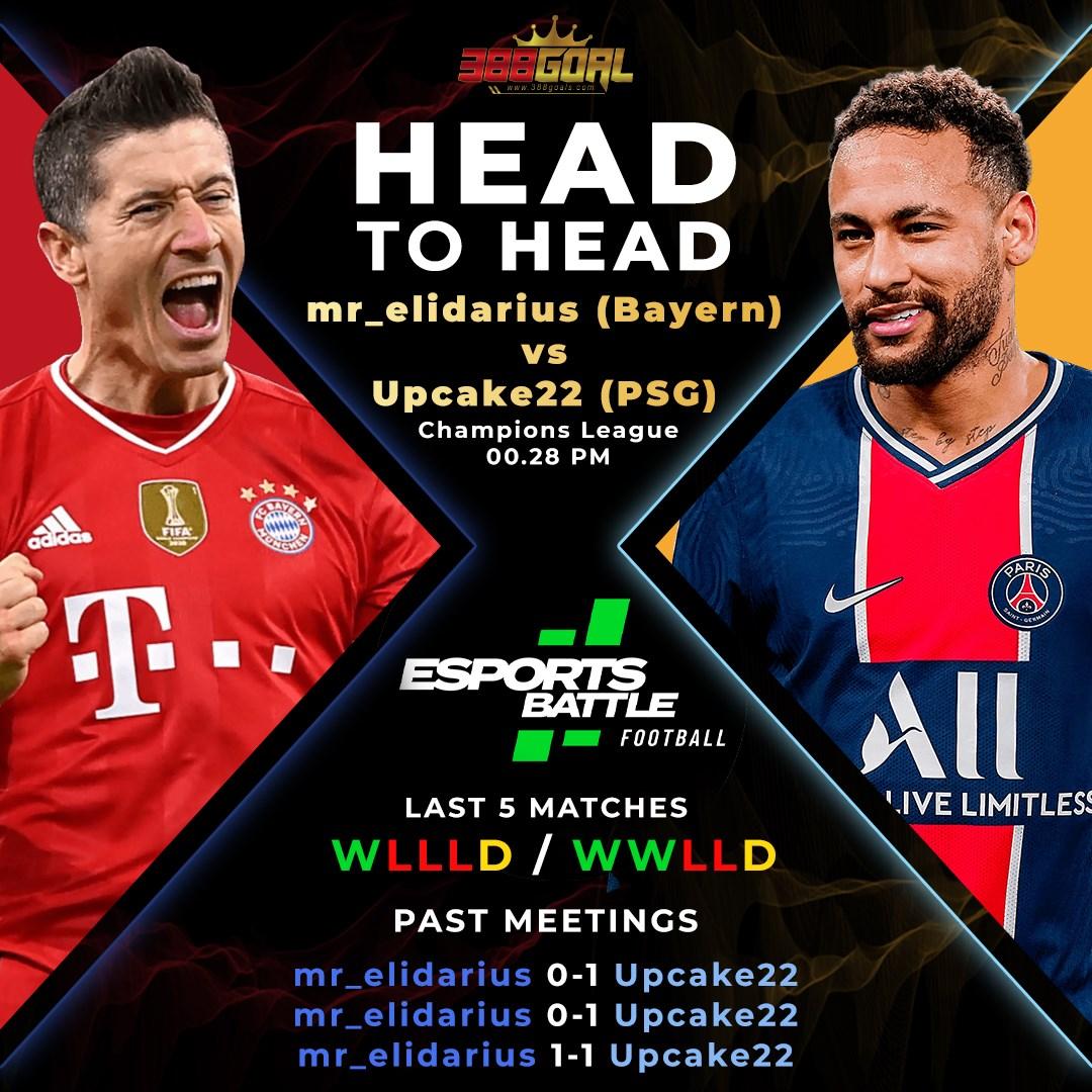 H2H Battle : ปิดท้ายคู่เด็ดศึก Esport Battle Football ด้วยคู่เวลา 00.28 น. ระหว่าง mr_elidarius ที่เลือกใช้บาเยิร์น