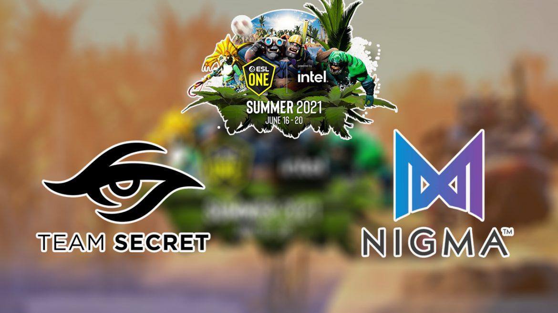 พรีวิว 17 มิ.ย. : Team Secret พบ Team Nigma ศึก ESL One Summer 2021