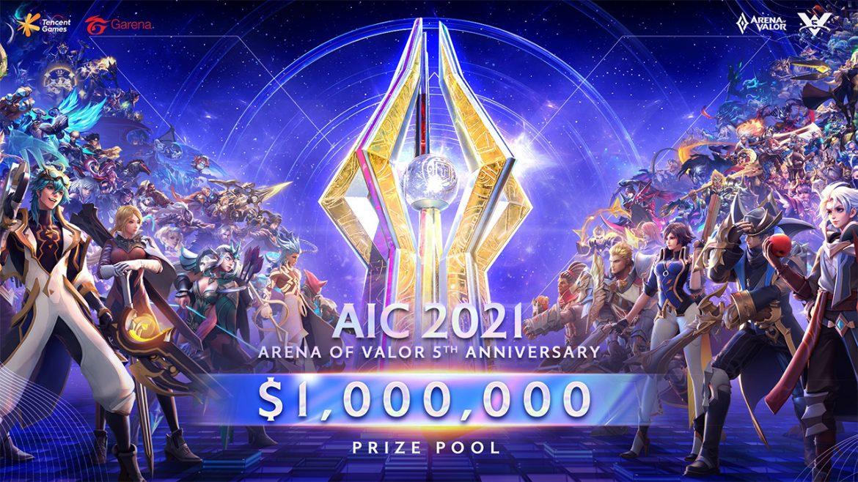 Garena ประกาศเปิดศึก AIC 2021 ฉลอง 5 ปี RoV เบิ้ลเงินรางวัลถึง 33 ล้าน