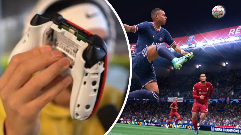 สตรีมเมอร์หัวร้อนพังจอยแหลกกลางไลฟ์หลังยิงไม่เข้าใน FIFA 22